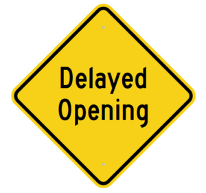 Image result for delayed school openings
