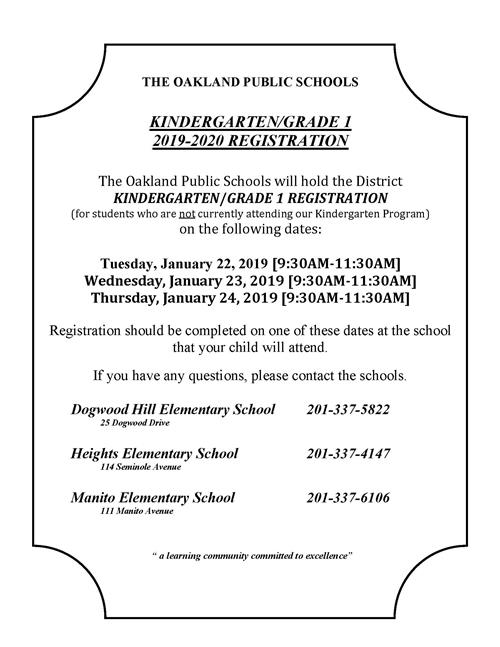 Kindergarten/Grade 1 Registration