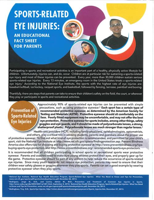Eye Injury Fact Sheet
